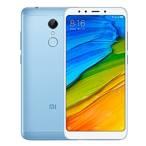 Xiaomi Redmi 5 Plus, 4GB+64GB, Global Official Version, Fingerprint Identification, 5.99 Inch MIUI 9.0 Qualcomm Snapdragon 625 Octa Core Up To 2.0GHz, Network: 4G, Dual SIM(Baby Blue)