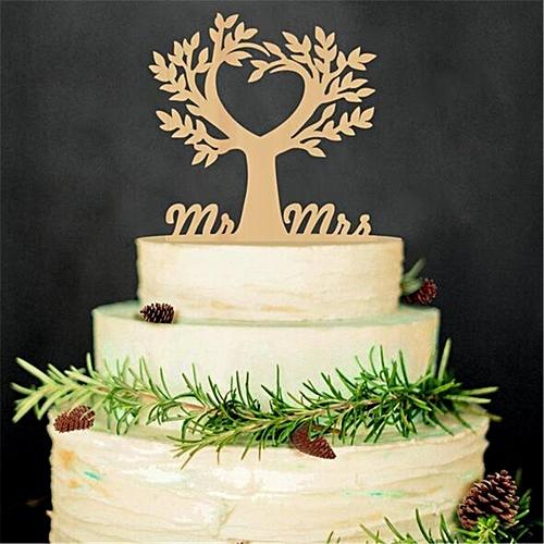 Romantic Wooden Cake Topper Rustic Wedding Anniversary Favor Decoration Keepsake