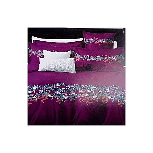 Floral Patterned Bedsheet With Four Pillowcases