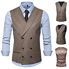 Men's Business Casual Wedding Waistcoat Vest  Jacket Top Coat for sale  Nigeria