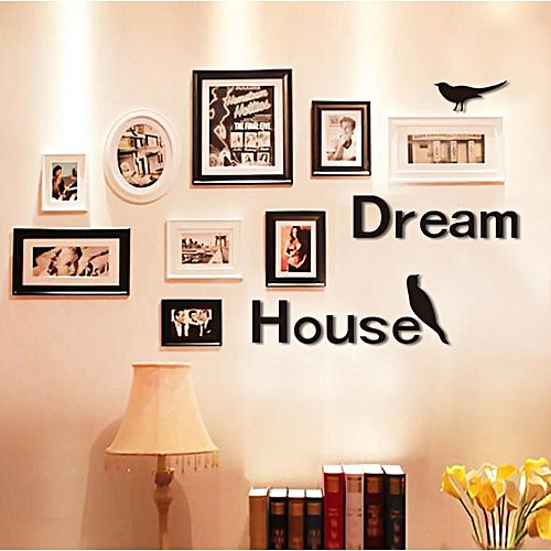 3D Dream House Multi-color DIY Shape Mirror Wall Stickers Home Wall Bedroom Office Decor