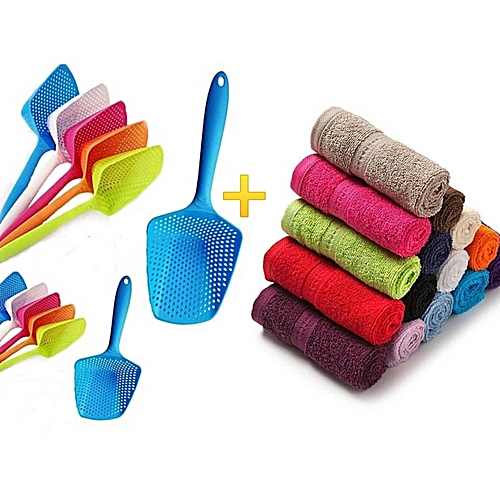 Food Strainer And Face Towels Souvenirs For Parties And Giveaways (12-12 Pcs Each)