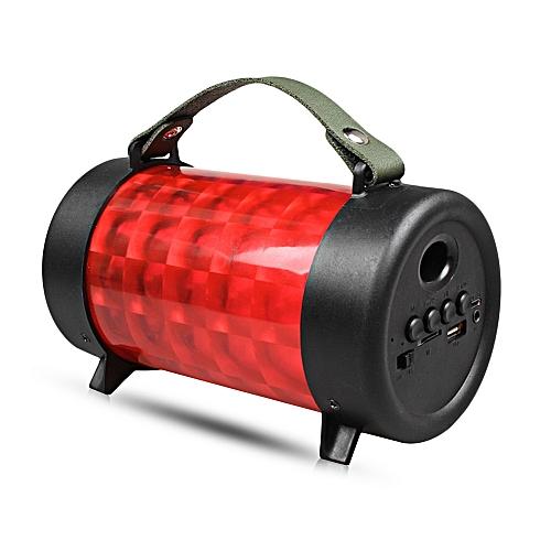 M21 Mini Wireless Bluetooth Stereo Speaker RGB Lamp Portable Player-RED