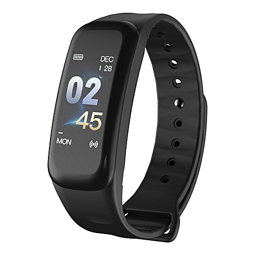 Smart Bracelet Blood Pressure Heart Rate Sleep Monitors Tracker Wristband Black