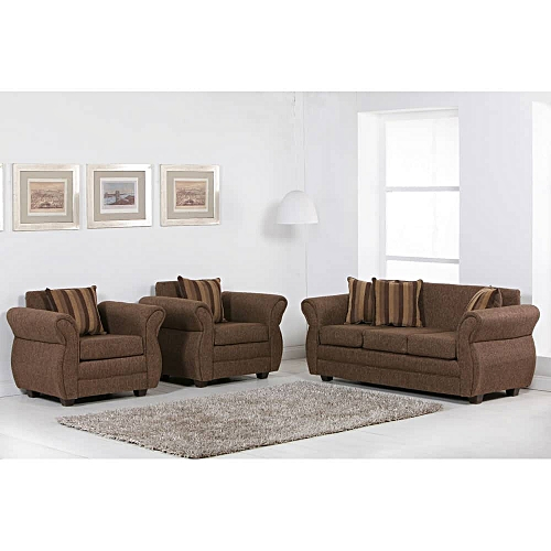 Complete 7 Seaters Sofa Set . Brown.Order Now And Get OTTOMAN Free (DELIVERY ONLY IN LAGOS)