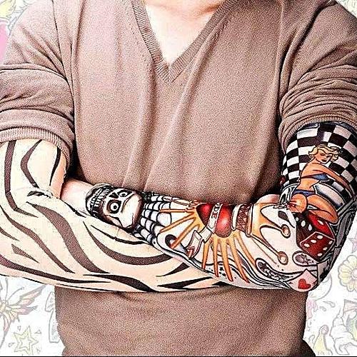 Men's Arm Warmers Summer 6pcs Women Temporary Fake Slip On Tattoo Arm Sleeves Kit New Fashion Sunscreen Arm Sleeves To Cover Tattoos Women Men Special Buy