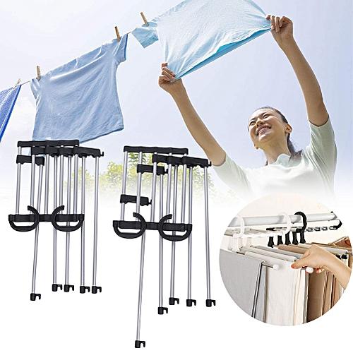 Folding Ties Scarf Shawl Hanger Hook Rack Design Organizer Space Saving Easy