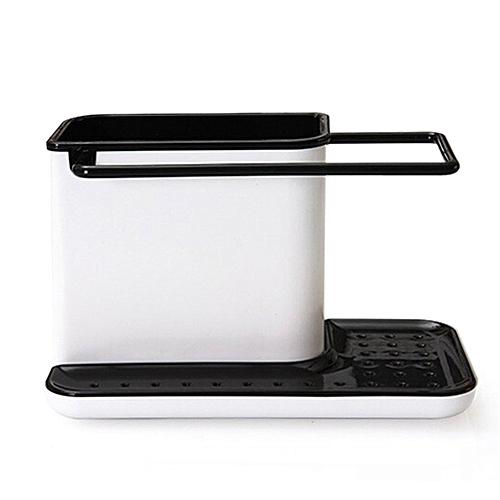Plastic Racks Organizer Caddy Storage Kitchen Sink Utensils Holders Drainer Black