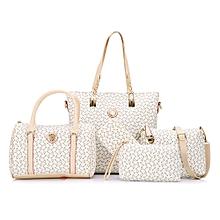 9320126e665 Geometric Tote Handbag 5Pc Set