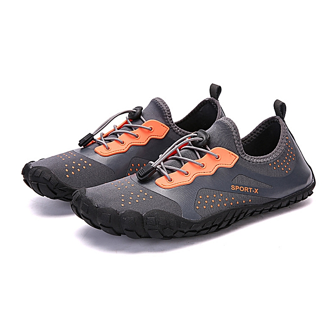 979e954abac4 ... Womens Mens Water Shoes Barefoot Quick Dry Diving Sports Pool Beach  Walking Yoga 1817 Grey ...
