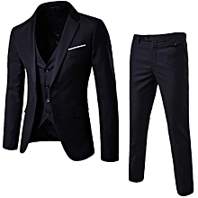 3ad5deb46c3bd Stylish 3 Pcs/sets Men's Formal Slim Business Bridegroom Suits Blazer