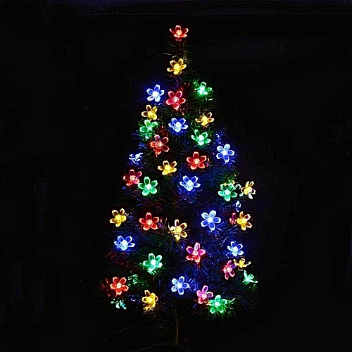 Flower Solar String Lights, 7 Meters 23ft 50 LED Fairy Blossom Christmas Lights Decorative Lighting For Indoor/Outdoor Home Garden Patio Lawn Party And Holiday Decorations