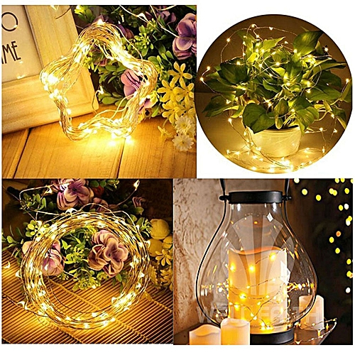 Bioaldla Store 5M 50 LEDs Battery Operated Mini LED Copper Wire String Fairy Lights
