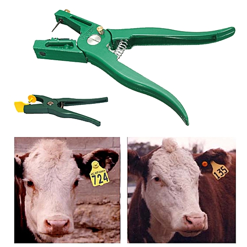 Livestock Cattle Goat Sheep Ear Tag Animal Tags Lables Marking Plier Applicator