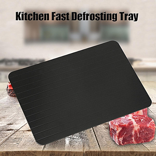 3PCS Kitchen Fast Safest Defrosting Tray Frozen Meat Food Quick Thawing Board Tool 29.5x20.3x0.2cm
