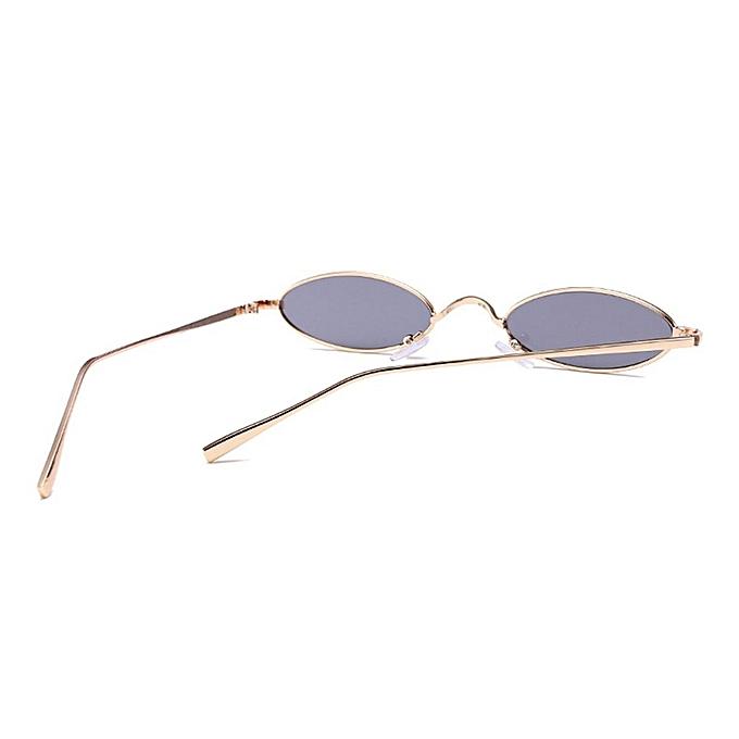 17dee70487 ... Women Men Small Oval Sunglasses Fashionable Unisex Metal Frame UV  Glasses ...
