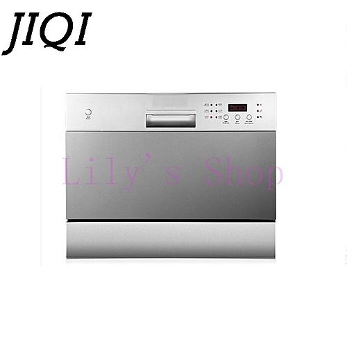 JIQI Automatic Intelligent Desktop Embedded Dishwasher Scrub Household Electric Bowl Dishes Washing Machine With LED EU US Plug