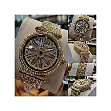 37bddb96fd5 FORECAST 2019 Fashion Spinning Straps Wrist Watch-Gold