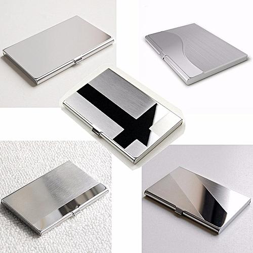 Stainless Steel Business ID Credit Card Holder Name Card Wallet Metal Pocket Box Case Holder