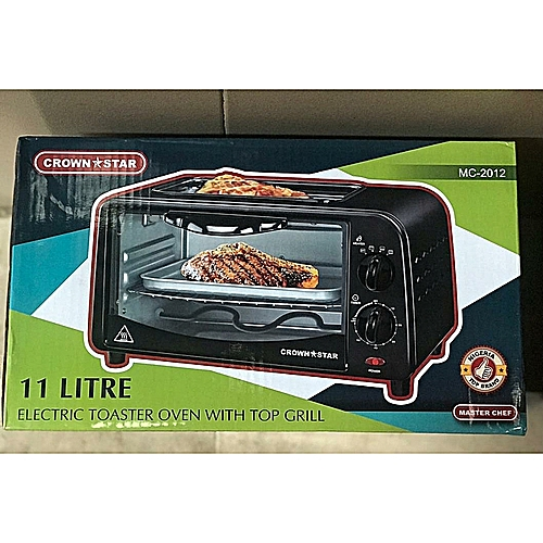 Electric Oven For Toasting+Baking+Grilling - 11Ltr