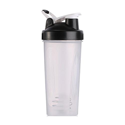 Handheld 600ML Gym Protein Shaker Mixer Bottle Whisk Ball Shaker Bottle