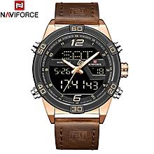 6eba2046d62 Men  039 s Wrist Watch Digital Chronograph Military Men Watch Luxury  Leather Casual Quartz