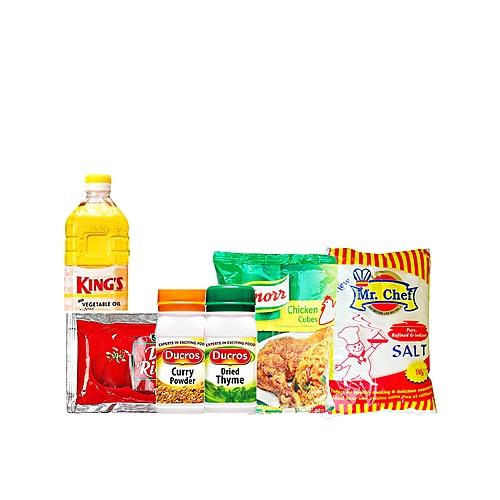 Cooking Seasoning Spice Bundle + King's Oil 1L & Knorr