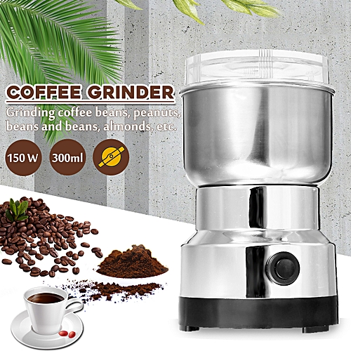 300ML Electric Coffee Grinder DIY Stainless Steel Spice Bean Food Home Office