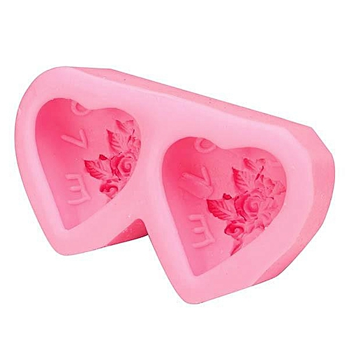 Double Heart Shape Cake Mold Silicone Cake Mould Creative Baking Mold Kitchen Accessories