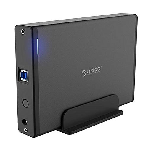 ORICO 7688U3 Vertical Aluminum External Hard Drive Enclosure Storage Case Hard Drive Dock For 3.5 Inch SATA HDD(Black)