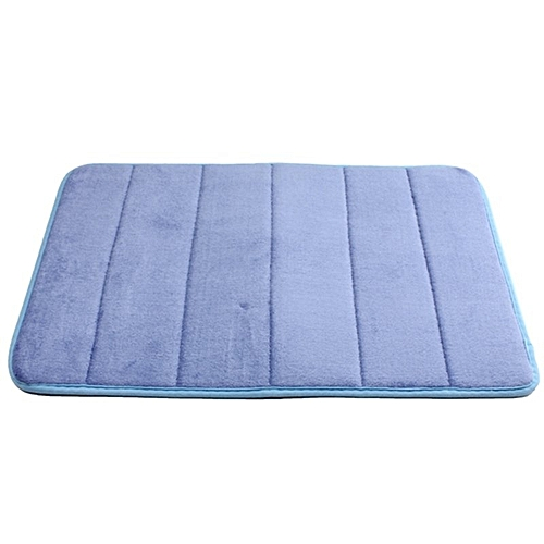 40cmx60cm Memory Foam Rug Mat Bathroom Bedroom Non-slip Mats Shower Carpet Deep Blue