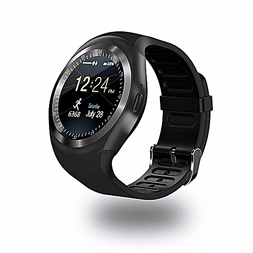 LINCOLN DIGITAL Y1 SmartWatch Touch Screen Support Micro SIM Card With Bluetooth 3.0 Camera Sleep Monitor Outdoor Fitness For IOS Android-Black