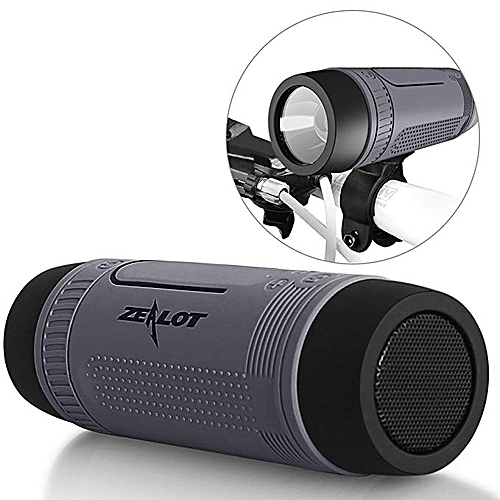 S1 Portable Multi Function Bluetooth Speaker With Torch - Grey