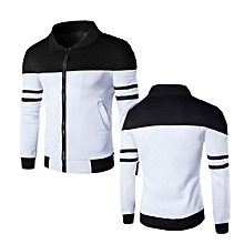 Men New Fashion Bomber Jackets Casual Sport Hoodies -white for sale  Nigeria