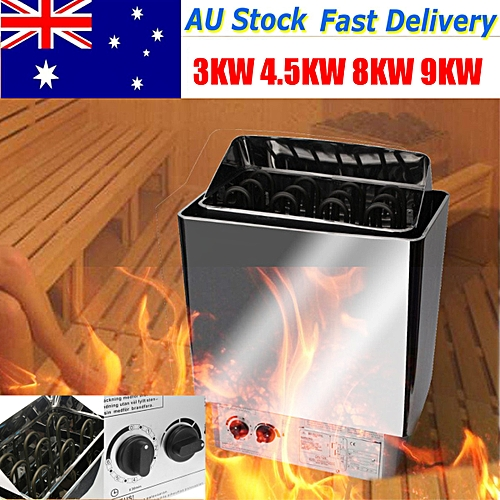 8KW 220V-380V Sauna Heater Stove Wet Dry Stainless Steel External Control