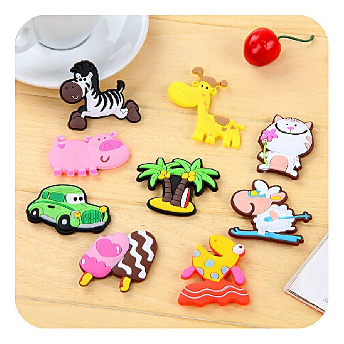 Creative Cartoon Refrigerator Magnet Cute Bright Color Baby Kids Learning Playing Toys