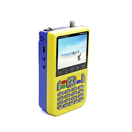 Digital Displaying Satellite Finder Freesat V8 Finder Signal Search Meter 3.5 Inch LCD Color Screen Fully DVB Compliant
