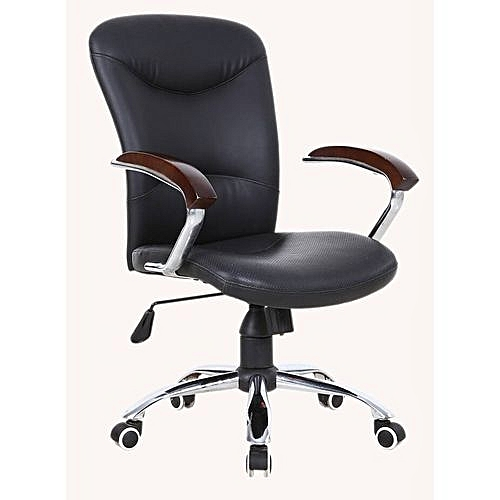 Executive Director Office Leather Chair (Z210B) - Black - (Sold By YK)
