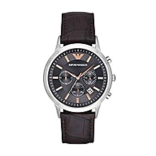 9ae0f93047d Men  039 s Dress Brown Leather Quartz Watch