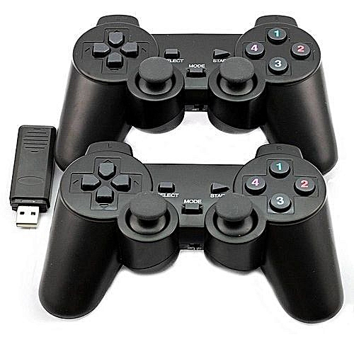 2 4GHZ Twin Wireless USB PC Game Pad Wireless Twin/Double PC Controllers  Game Pads - Dual Vibration USB For PC & Laptops - Windows
