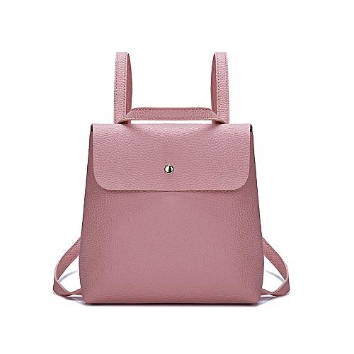 95868d9a7cbb Fashion Fshion Women Girl Pure Color Leather Mini School Bag Backpack  Shoulder Bag