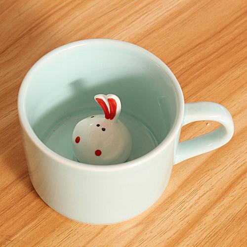 3D Small Ceramic Cute Animals Coffee Milk Cup Tea Mug Heat-resistant Nice Gift