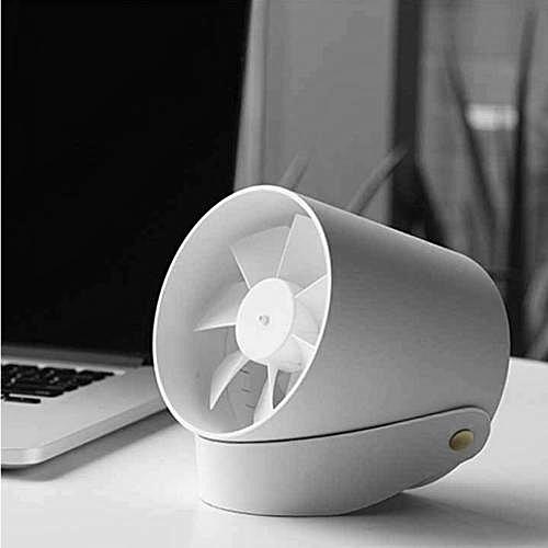 USB Desk Fan Touch Control - White