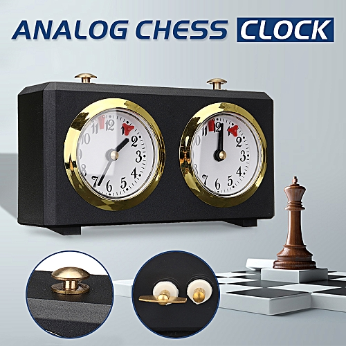 Analog Chess Clock I-GO Count Up Down Alarm Timer For Game Competition Metal