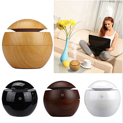 USB Essential LED Touch Aroma Ultrasonic Humidifier Diffuser Air Purifier (Black)