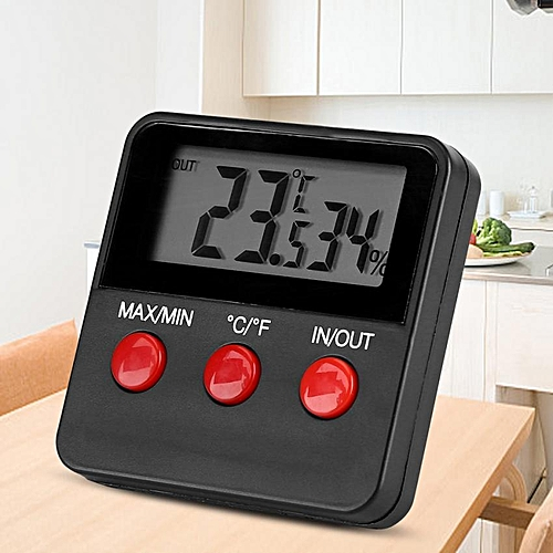 Digital LCD Thermometer Hygrometer Temp Humidity Monitor Meter For Egg Incubator Pet Keeping
