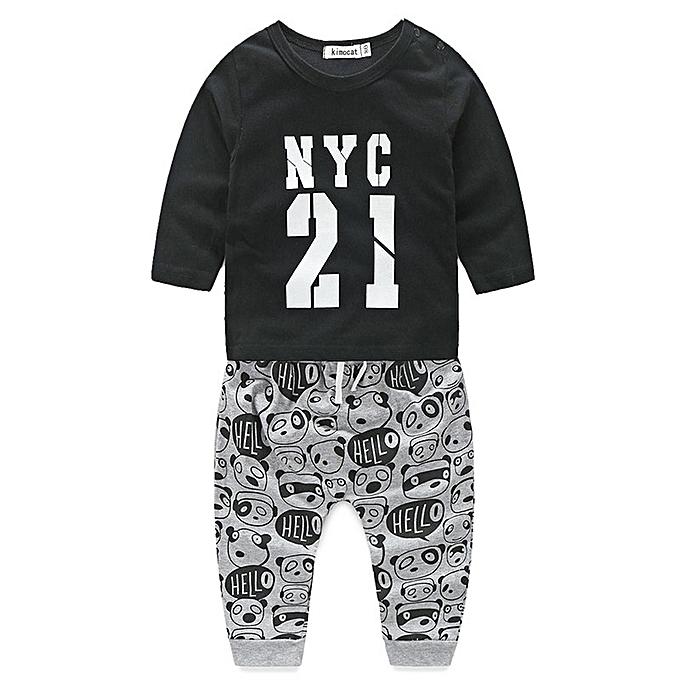 1e4102e8f76949 Summer Lovely Children Clothing Sets Boys Girls Kids Sport Suit Tracksuits  2pcs Cotton Shirt+Pants
