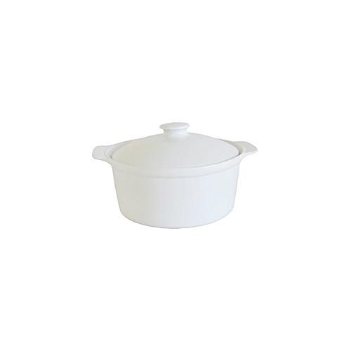 2.5L Ceramic Casserole Dish - White