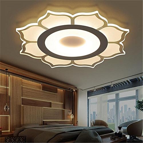 Modern Simple Floral Design Acrylic Led Ceiling Light Living Room Bedroom Home Lamp Full Warm Light