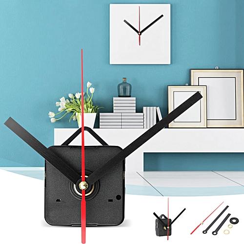 Black & Red Hands DIY Quartz Clock Movement Mechanism Repair Tool Parts Kit Set
